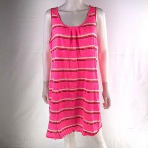 Lands End Large Pink Strife Sleeveless Dress